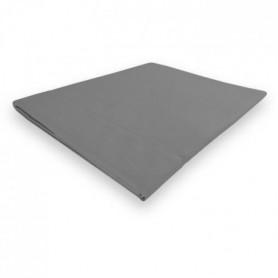 SOLEIL d'OCRE Drap plat Camille - 180 x 290 cm - Gris