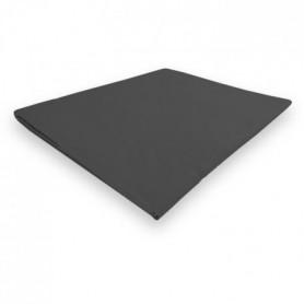 SOLEIL d'OCRE Drap plat Camille - 260 x 300 - anthracite
