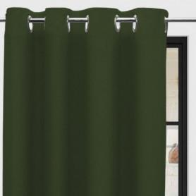 SOLEIL d'OCRE Rideau a oeillets Panama - 135 x 250 cm - Vert