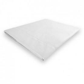 SOLEIL d'OCRE Drap plat Camille - 240 x 300 cm - Blanc