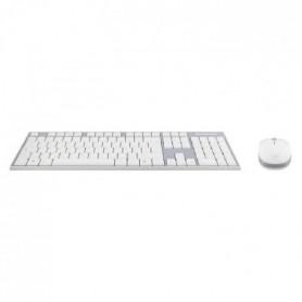 T'nB Combo clavier souris sans fil -Gris/Blanc