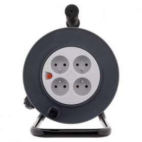 ZENITECH Enrouleur HO5VV-F - 4 prises - 3G1mm² + coupe-circuit
