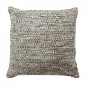 Coussin Skin - 70 x 70 cm - Gris taupe