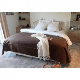 Couverture Polaire 350g/m² - 220x240cm - Chocolat