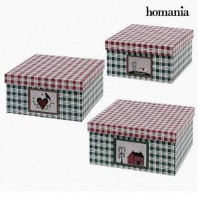 Boîte Décorative Homania 7635 (3 uds) Carton