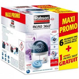 PROMO RUBSON Lot de 6 Recharges AERO 360 lavande