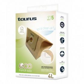 Sac de Rechange pour Aspirateur Taurus 999.193 2L Marron
