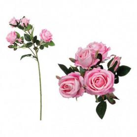 Branche de 5 roses 113014 Rose (60 Cm)