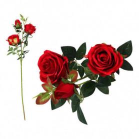 Branche de 5 roses 113199 Rouge (60 Cm)