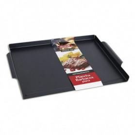 Plaque à griller lisse pour barbecue Algon (36 x 29 cm)