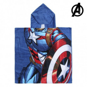 Serviette poncho avec capuche Captain America The Avengers 74171