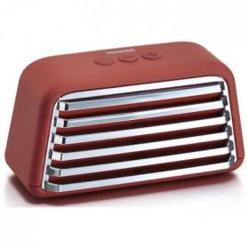 TREELAB TOASTER Enceinte Bluetooth rétro - Rouge