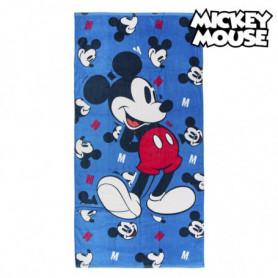 Serviette de plage Mickey Mouse 75491 Coton Blue marine