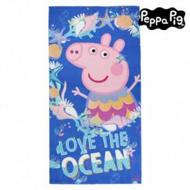 Serviette de plage Peppa Pig 75502 Microfibre Blue marine