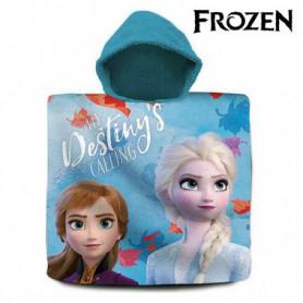 Serviette poncho avec capuche Frozen (60 x 120 cm)