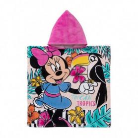 Serviette poncho avec capuche Disney Minnie Mouse (60 x 120 cm)
