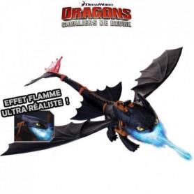 DRAGONS - Dragon noir Krokmou Cracheur De Flammes