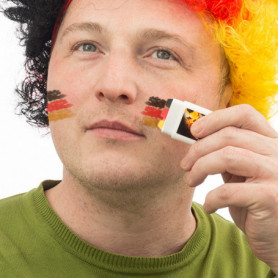 Peinture de Visage Drapeau de l'Allemagne