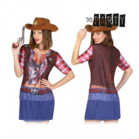 T-shirt pour adultes Th3 Party 8270 Cow-girl