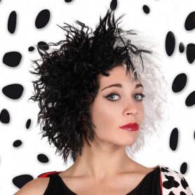 Perruques Cruella Noir Blanc 115815