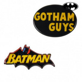Broche Batman Jaune Noir