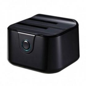 """Dock Station Dual TooQ TQDS-802B 2.5""""-3.5"""" HDD SATA USB 3.0 Noir"""