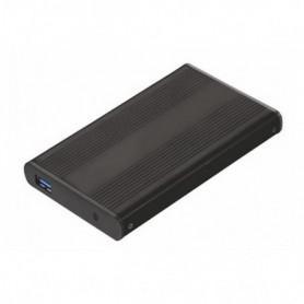 """Boîtier Externe TooQ TQE-2524B HD 2.5"""" SATA III-USB 3.0 FAT32 / NTFS"""