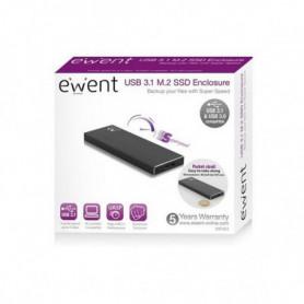 Boîtier Externe Ewent EW7023 SSD M2 USB 3.1 Aluminium