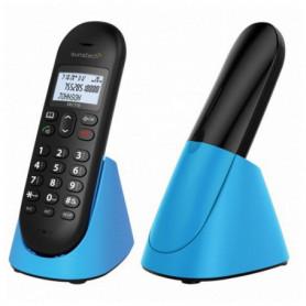"""Téléphone Sans Fil Sunstech DECT10BL DECT 1,5"""" LCD Bleu"""