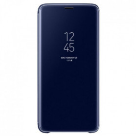 Samsung Clear View Cover Stand S9+ Bleu