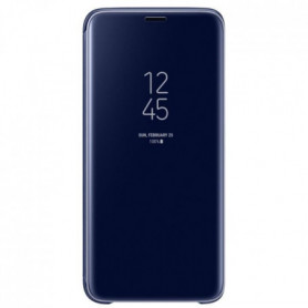 Samsung Clear View Cover Stand S9 - Bleu