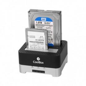 "Boîtier Externe CoolBox COO-DUPLICAT2 2,5""-3,5"" SATA USB 3.0"