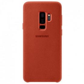 Samsung Coque en Alcantara S9+ Rouge