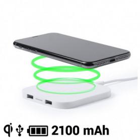Chargeur Sans Fil pour Smartphones Qi 2100 mAh USB 145764