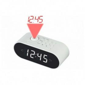 Radio réveil avec projecteur LCD Denver Electronics CRP-717 LED Blanc