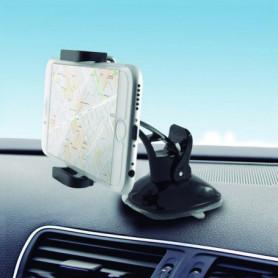 Support de Téléphone Portable pour Voiture avec ventouses KSIX 360°
