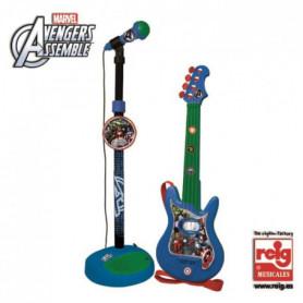 AVENGERS Guitare avec microphone - 4 cordes