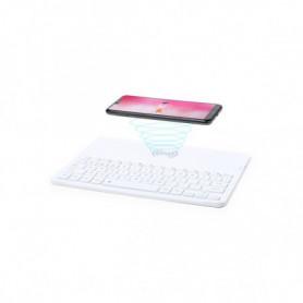 Clavier Bluetooth avec Chargeur Sans Fil Qi Blanc 146129