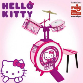 HELLO KITTY Batterie et tabouret rose