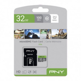 Carte Mémoire SDHC PNY Elite 32 GB Noir