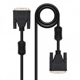Câble DVI NANOCABLE 10.15.080 Noir