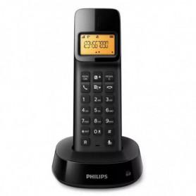 """Téléphone Sans Fil Philips D1601B/01 1,6"""" 300 mAh GAP Noir"""