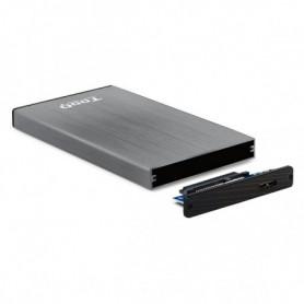 """Boîtier pour disque dur TooQ TQE-2527G 2,5"""" SATA USB 3.0 Noir"""