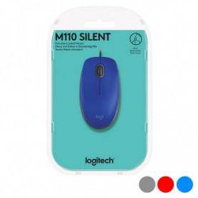Souris Optique Logitech M110 Silent 1000 dpi USB