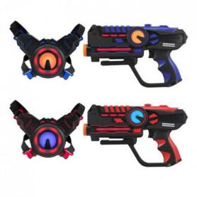DARPEJE Laser Battle - Set 2 joueurs équipe bleu/r
