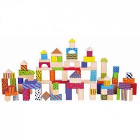 SAPIN MALIN Jeu de Construction en bois de 100 blocs