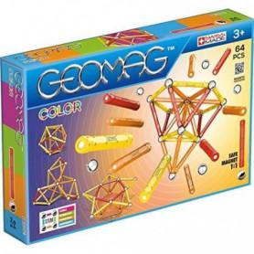 GEOMAG COLOR Jeu de Construction Magnétique 64 pcs