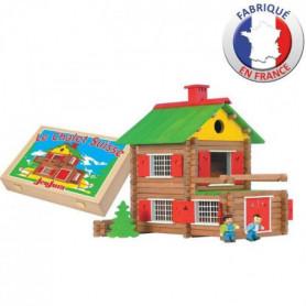 JEUJURA - Mon Chalet en Bois 175 pieces Coffret en bois