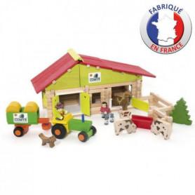 JEUJURA - Ferme en bois avec Tracteur et Animaux