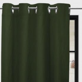 SOLEIL d'OCRE Rideau à oeillets Boheme - 135 x 250 cm - Vert kaki